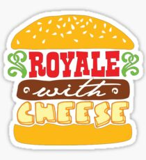 Pulp Fiction - Royale with cheese Sticker