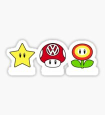 VW Power Up (white print) Sticker