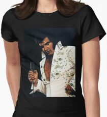 Elvis Presley Painting Womens Fitted T-Shirt