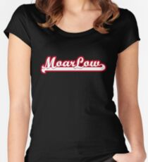 MoarLow (red) Women's Fitted Scoop T-Shirt
