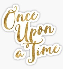Golden Look Once Upon a Time Sticker