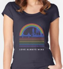 Love Always Wins Women's Fitted Scoop T-Shirt