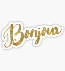 Golden Look Bonjour Sticker
