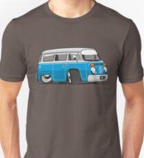 VW T2 Microbus cartoon blue T-Shirt