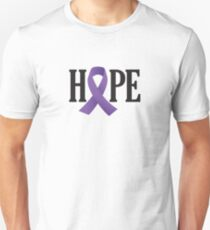 Purple Ribbon Hope Unisex T-Shirt