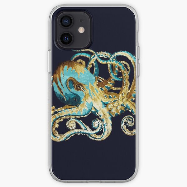 Octopus - Texturized Metallic Design iPhone Soft Case