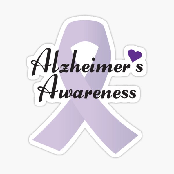 Alzheimer's Awareness Ribbon Sticker