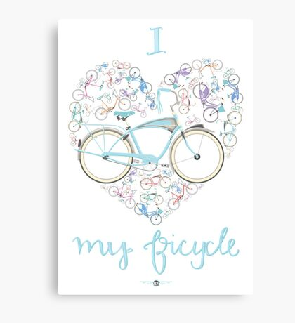 I Love my Bicycle Print Canvas Print