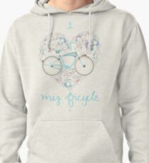 I Love my Bicycle Print Pullover Hoodie