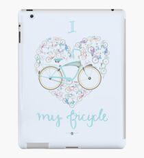 I Love my Bicycle Print iPad Case/Skin