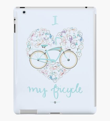 I Love my Bicycle Print iPad Case/Skin