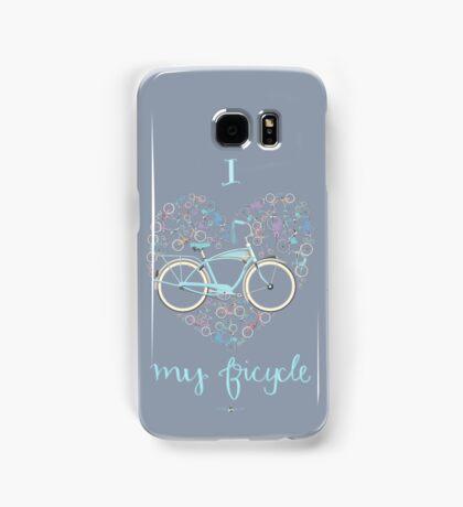 I Love my Bicycle Print Samsung Galaxy Case/Skin
