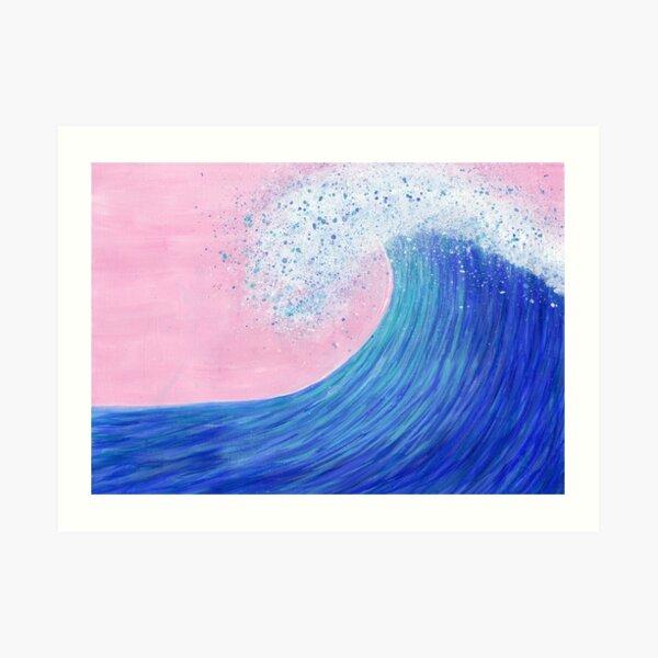Big wave II Art Print