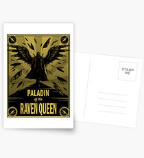 Paladin of the Raven Queen Postcards