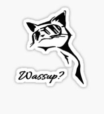Wassup Badass Cat Sticker