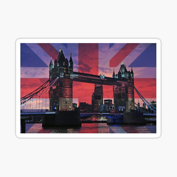 Addicted to London - Tower Bridge - popart Sticker