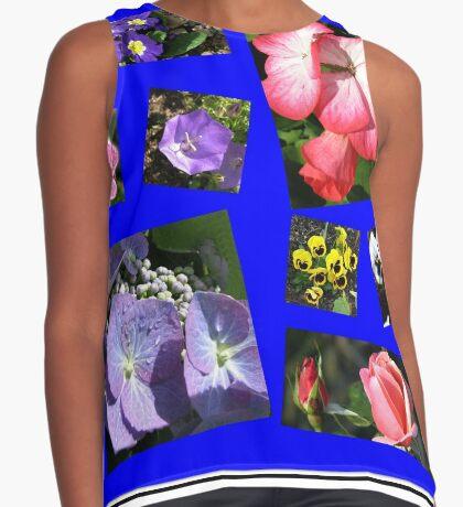 Blumen-Power-Collage Ärmelloses Top