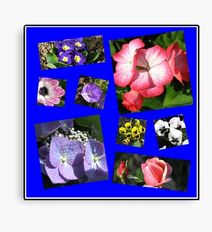 Blumen-Power-Collage Leinwanddruck