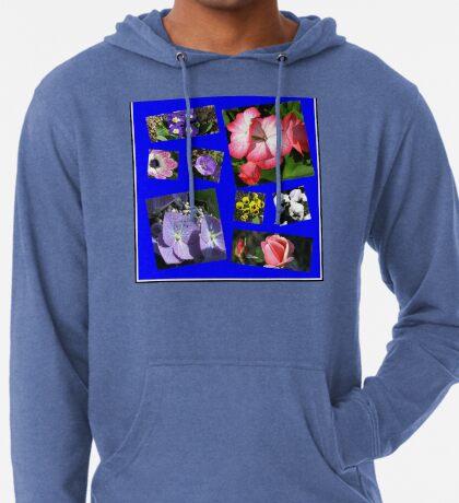 Blumen-Power-Collage Leichter Hoodie