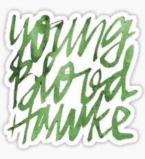 Youngblood Hawke GREEN Sticker