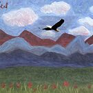 Eagle and Mountains by storecee