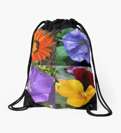Quartett Sommer Blumen Collage Turnbeutel