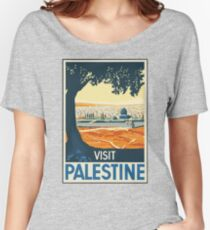Vintage Travel Poster Visit Palestine Women's Relaxed Fit T-Shirt