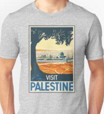 Vintage Travel Poster Visit Palestine Unisex T-Shirt