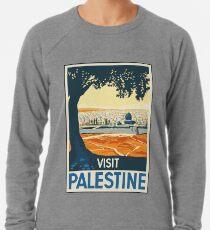 Weinlese-Reise-Plakatbesuch Palästina Leichter Pullover