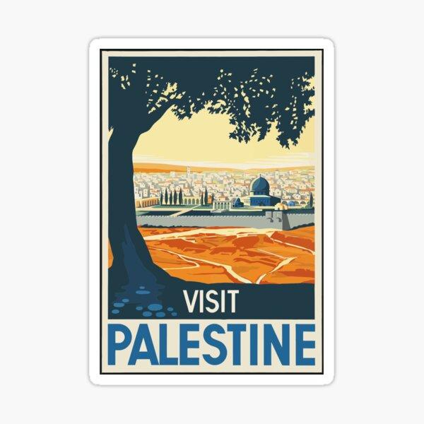 Vintage Travel Poster Visit Palestine Sticker
