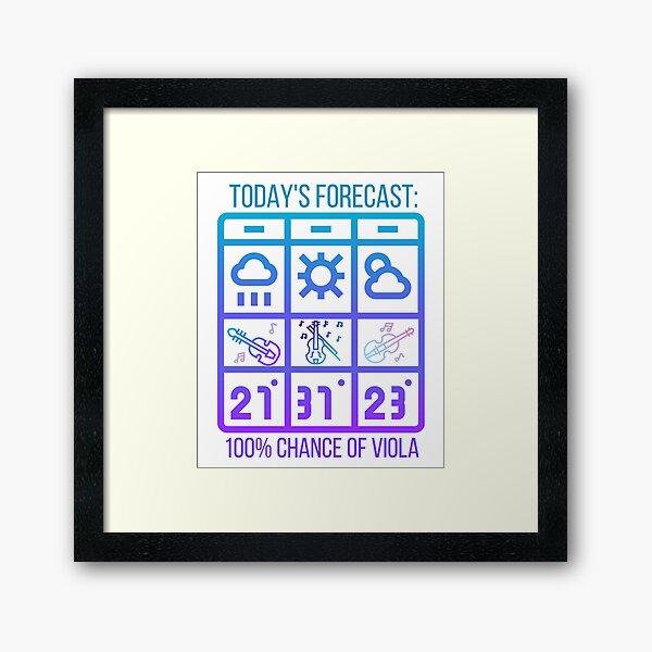 Viola Weather Forecast Ombre design Framed Art Print