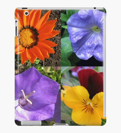 Quartett Sommer Blumen Collage iPad-Hülle & Klebefolie