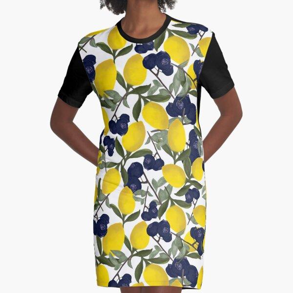 My Lemon Has the Blueberries  Graphic T-Shirt Dress