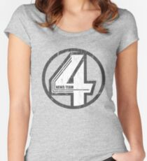Fantastic 4 News Team Women's Fitted Scoop T-Shirt