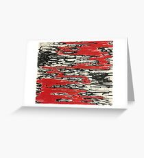 Angry abstract drawing Greeting Card