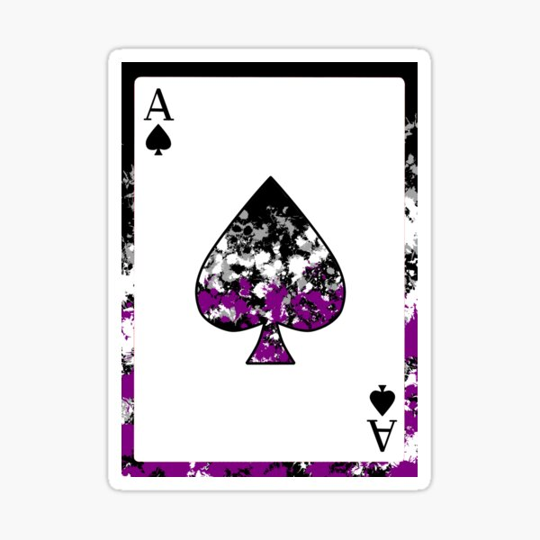 Ace of Spades - Asexual / Demisexual Pride Sticker