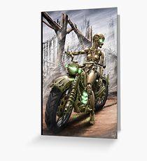 Cyberpunk Painting 023 Greeting Card