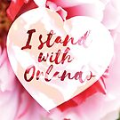 I Stand With Orlando - Floral White by Kirsten Chambers