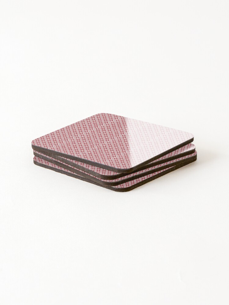 Alternate view of Red Pattern Coasters (Set of 4)