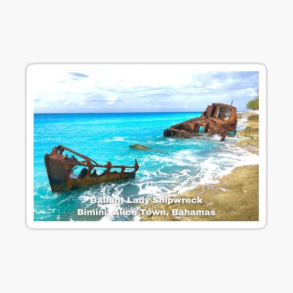 Gallant Lady Shipwreck, Bimini Bahamas Sticker