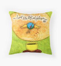 What my #Tea says to me - January 9, 2014 Pillow Throw Pillow
