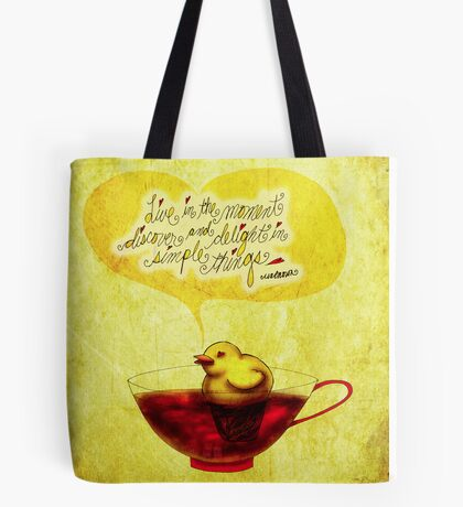 What my #Tea says to me - January 2, 2014 Pillow Tote Bag