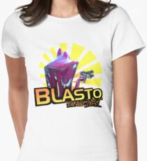 Mass Effect - BLASTO w/quote  Women's Fitted T-Shirt