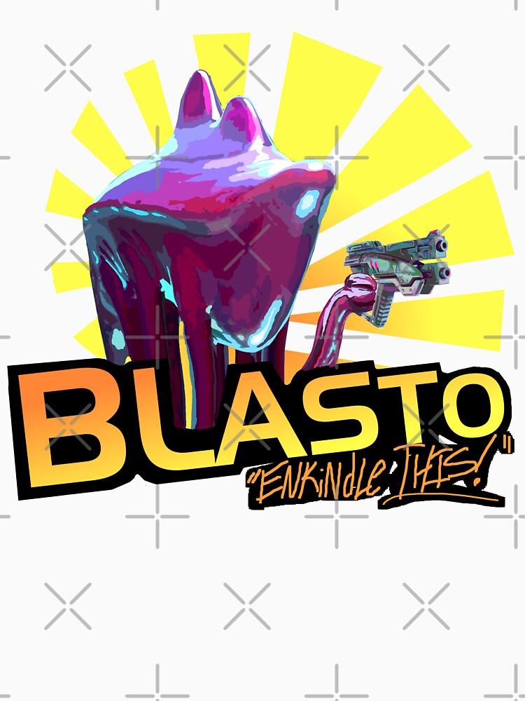 Mass Effect - BLASTO w/quote  by Kmoonleaf