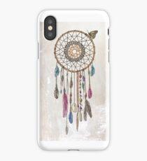Colorful dream catcher art iPhone Case