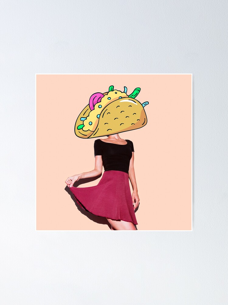 Alternate view of Taco Girl Poster