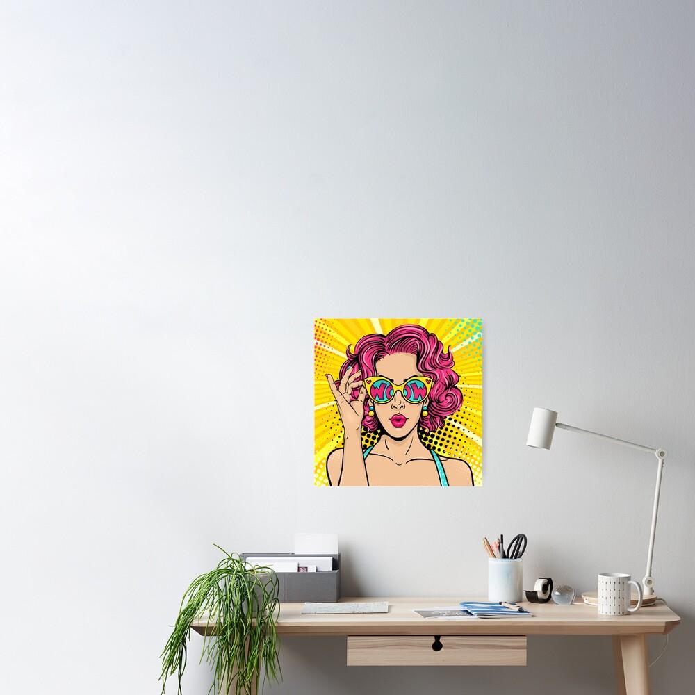 Wow Girl Pop Art Poster
