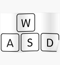 WASD Gaming Keys Poster