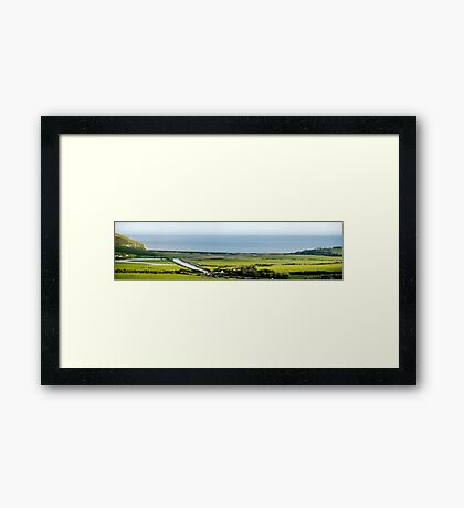 Cuckmere Haven Panorama Framed Print
