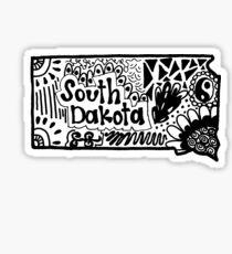 South Dakota Zentangle Sticker